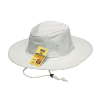 COTTON WORKER SUN HAT-WHITE