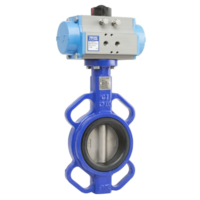 BUTTERFLY VALVE CAST IRON WAFER ACTUATED D/ACTING - 3""