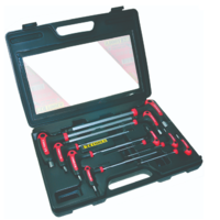 KC T HANDLE A/F BALL HEX KEY SET