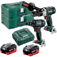 18 V BRUSHLESS, Hammer Drill/Screwdriver 120 Nm + 18 V BRUSHLESS 1/2 Impact Wrench 300 Nm (2 x 5.5 Ah LiHD Battery Packs, ASC 55 V Air-cooled Charger,