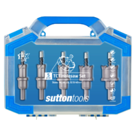 SUTTON TCT Hole Cutter Set 5 pce HTTS SUTTON 16, 20, 25, 32 & 40mm