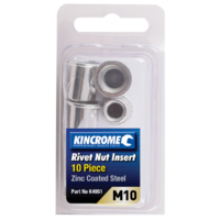 Rivet Nut Insert M10 (Zinc Coated Steel) - 10 Pack