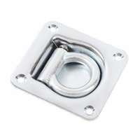 RECESS LASHING RING, 102 x 95MM, SPRING RETURN, MBS 1800KG, ZINC PLATED