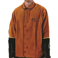 WELDING JACKET - XL (High Quality Red Cow Split Leather)